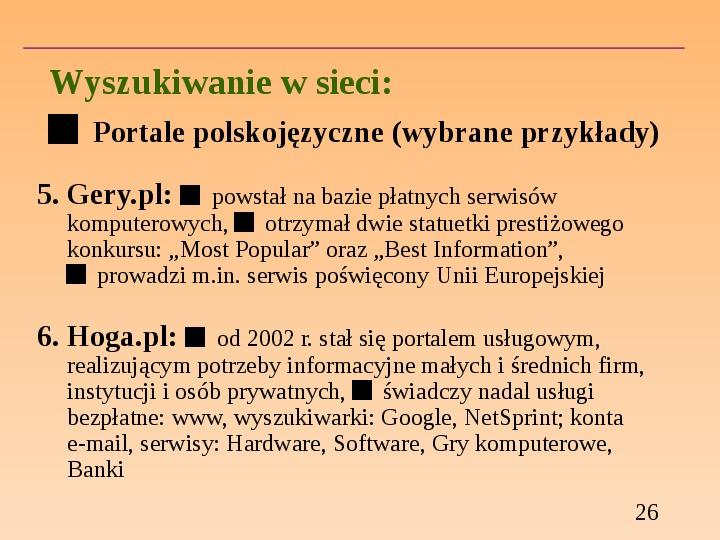 Wyszukiwanie informacji w Internecie - Slajd 25