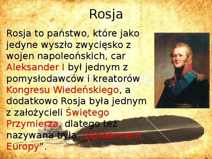 Zaborcy Polski w 1 poł. XIX wieku - Slajd 4