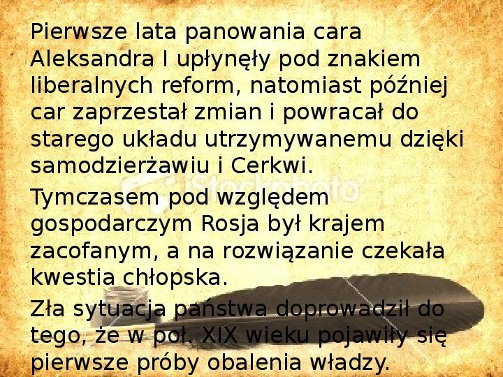 Zaborcy Polski w 1 poł. XIX wieku - Slajd 5