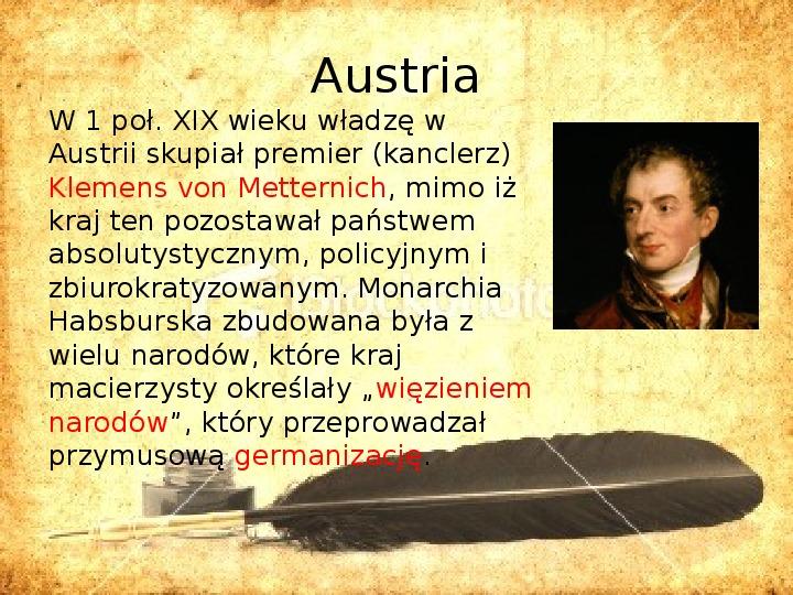 Zaborcy Polski w 1 poł. XIX wieku - Slajd 10