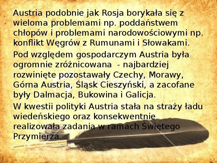 Zaborcy Polski w 1 poł. XIX wieku - Slajd 11