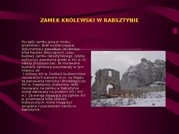 Zamki Jury Krakowsko Częstochowskiej - Slajd 2
