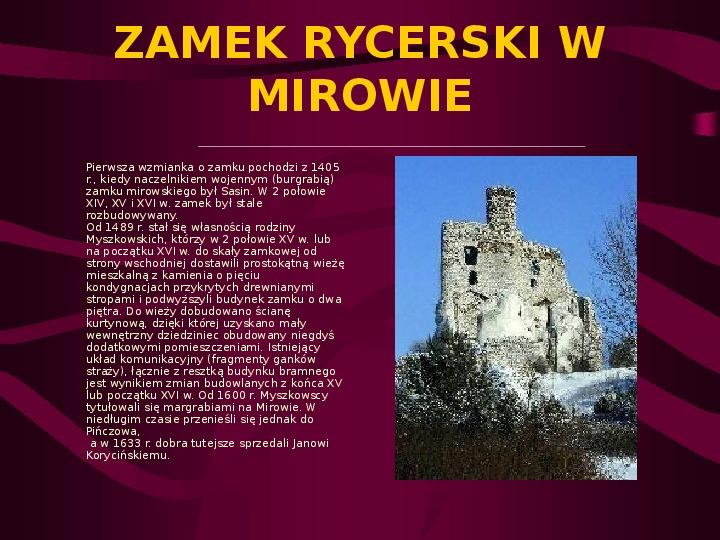 Zamki Jury Krakowsko Częstochowskiej - Slajd 4