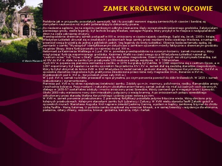 Zamki Jury Krakowsko Częstochowskiej - Slajd 5