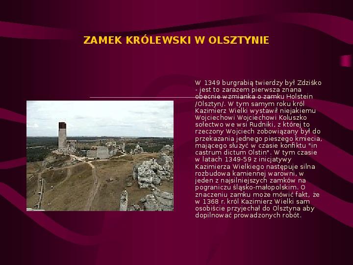 Zamki Jury Krakowsko Częstochowskiej - Slajd 7