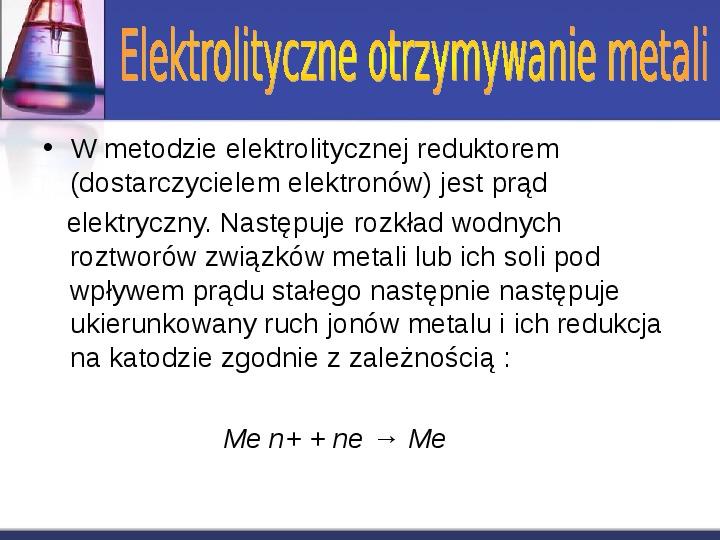 Zastosowanie elektrolizy - Slajd 3