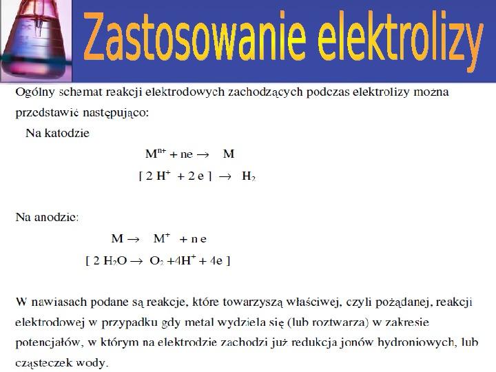 Zastosowanie elektrolizy - Slajd 4