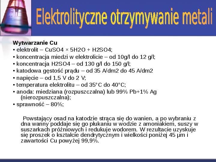 Zastosowanie elektrolizy - Slajd 7