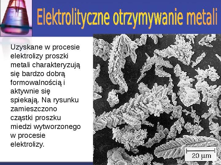 Zastosowanie elektrolizy - Slajd 8