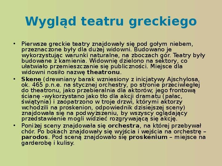 Starożytność, kultury, teatr - Slajd 9