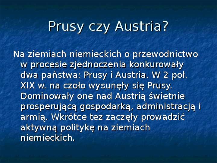 Zjednoczenie Niemiec - Slajd 2