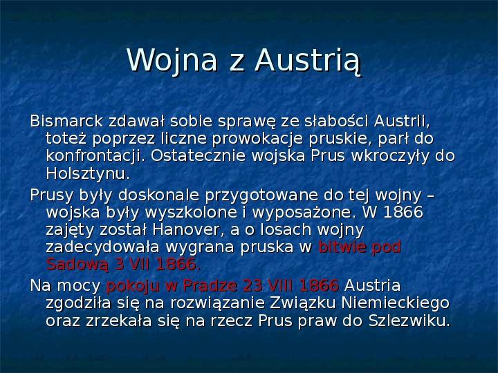 Zjednoczenie Niemiec - Slajd 5