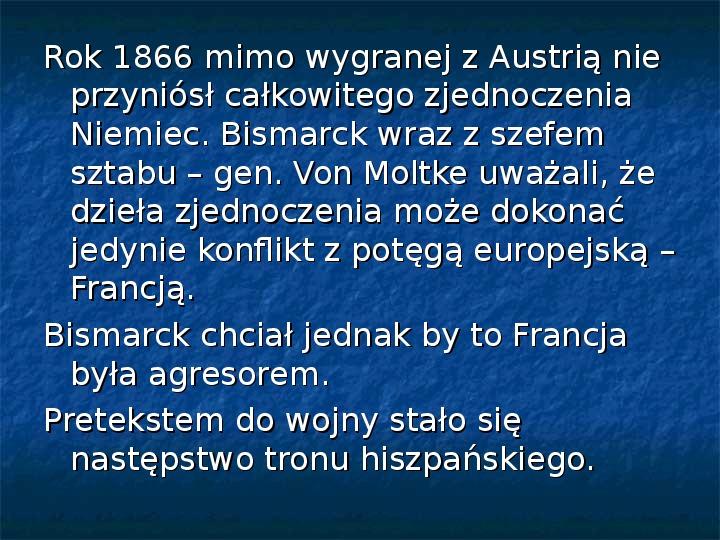 Zjednoczenie Niemiec - Slajd 8