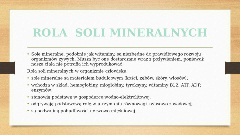 Sole mineralne - Slajd 5