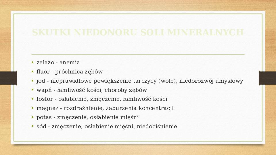 Sole mineralne - Slajd 8