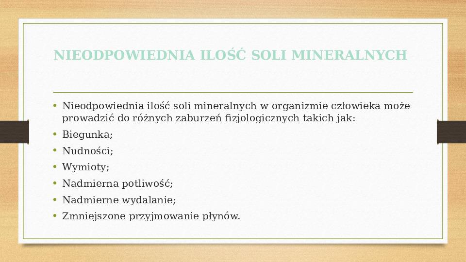 Sole mineralne - Slajd 9