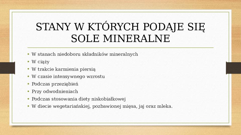 Sole mineralne - Slajd 10
