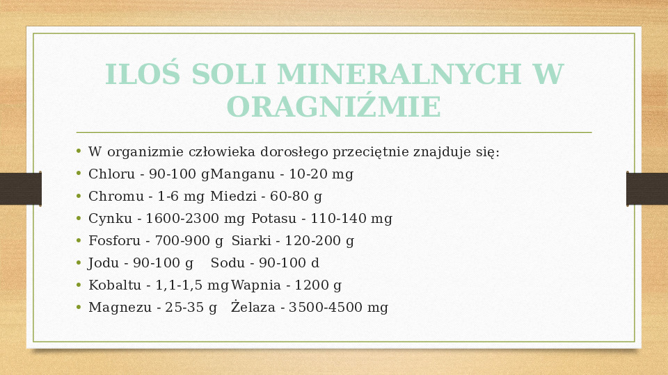 Sole mineralne - Slajd 12