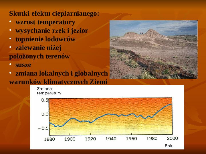 Efekt cieplarniany - Slajd 7