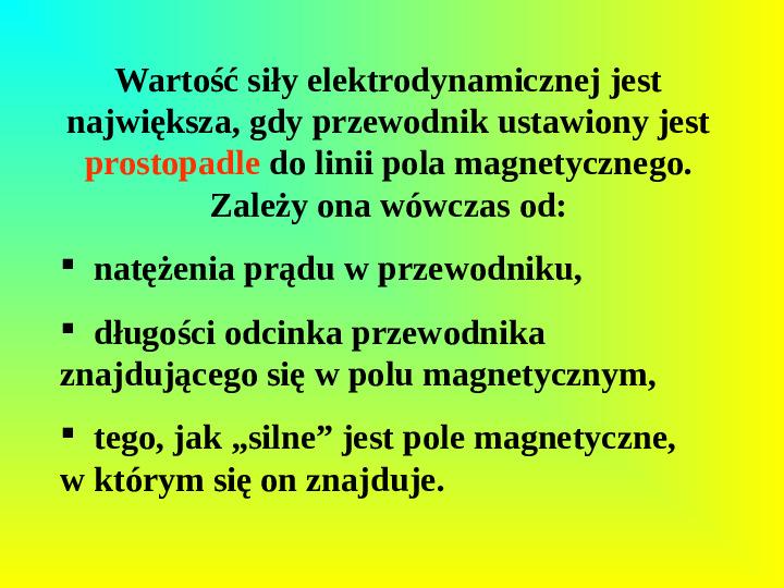 Oddziaływania elektromagnetyczne - Slajd 13