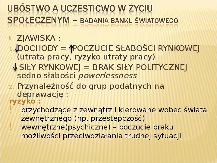 Polska biedy, marginalizacja - Slajd 3