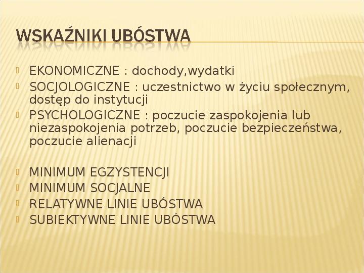 Polska biedy, marginalizacja - Slajd 6