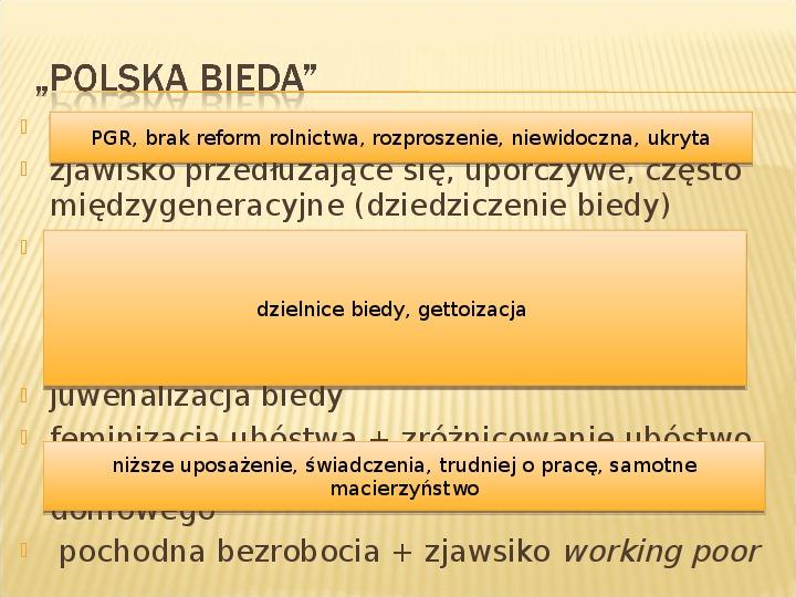 Polska biedy, marginalizacja - Slajd 7