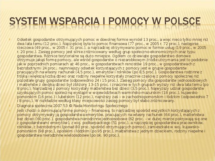 Polska biedy, marginalizacja - Slajd 21