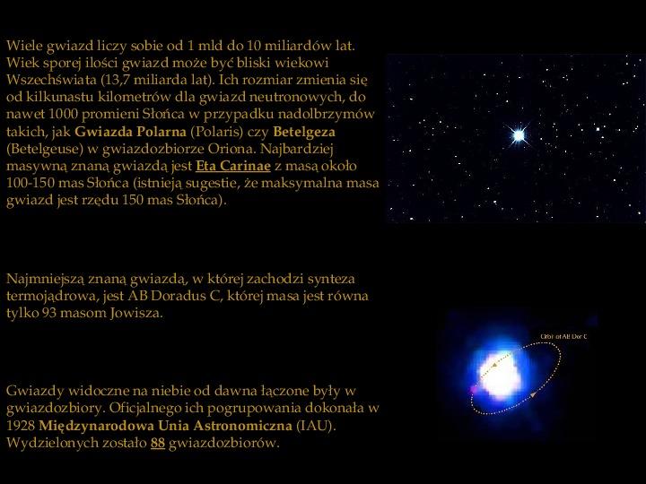 Gwiazdy - Slajd 3