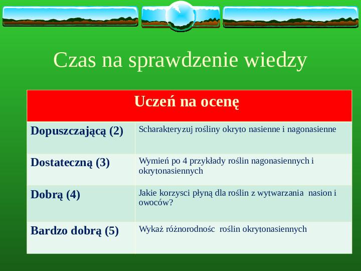 Charakterystyczne cechy roślin - Slajd 1