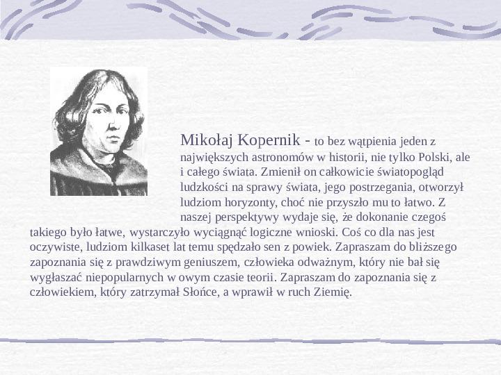 Mikołaj Kopernik - Slajd 1