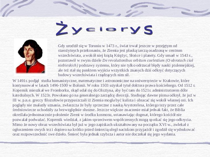 Mikołaj Kopernik - Slajd 2