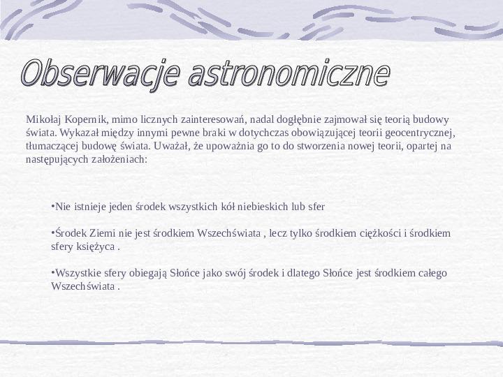 Mikołaj Kopernik - Slajd 3