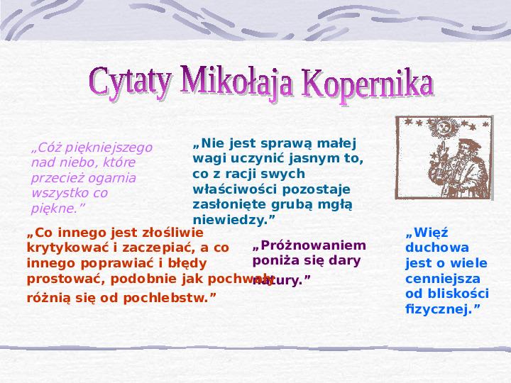 Mikołaj Kopernik - Slajd 13