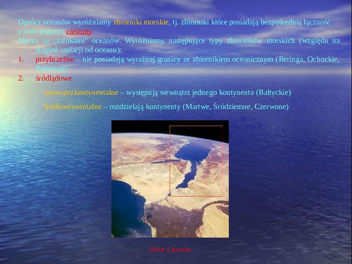 Morza i oceany - Slajd 3