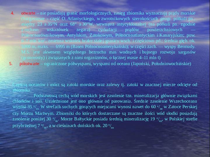 Morza i oceany - Slajd 5