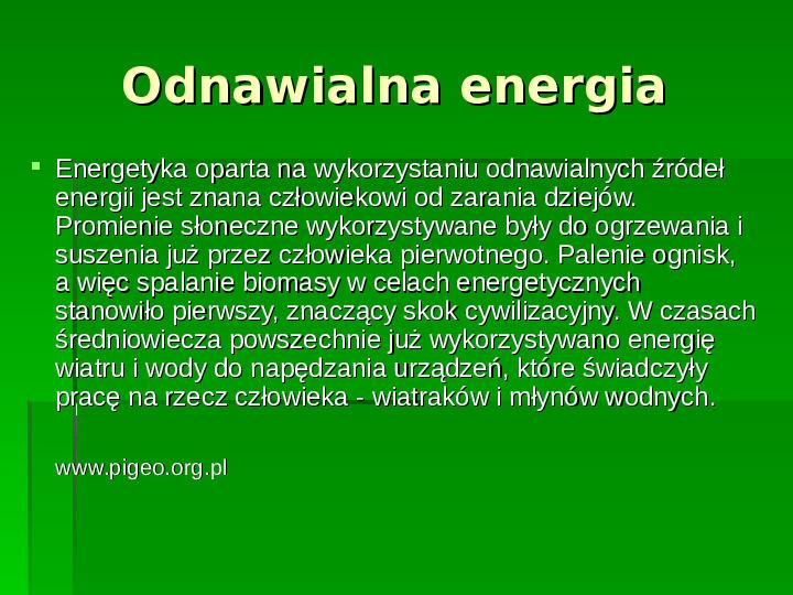 Odnawialne źródła energii - Slajd 2