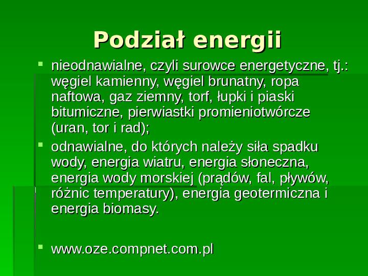 Odnawialne źródła energii - Slajd 3