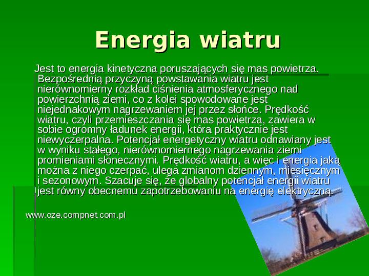 Odnawialne źródła energii - Slajd 9