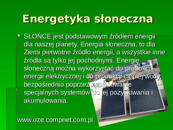 Odnawialne źródła energii - Slajd 15