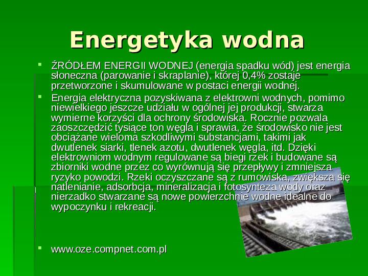 Odnawialne źródła energii - Slajd 17