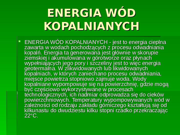 Odnawialne źródła energii - Slajd 18