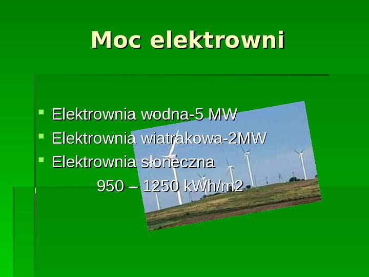 Odnawialne źródła energii - Slajd 19