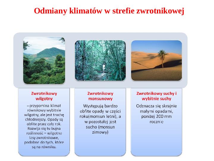 Pogoda i zróżnicowanie klimatyczne świata - Slajd 13