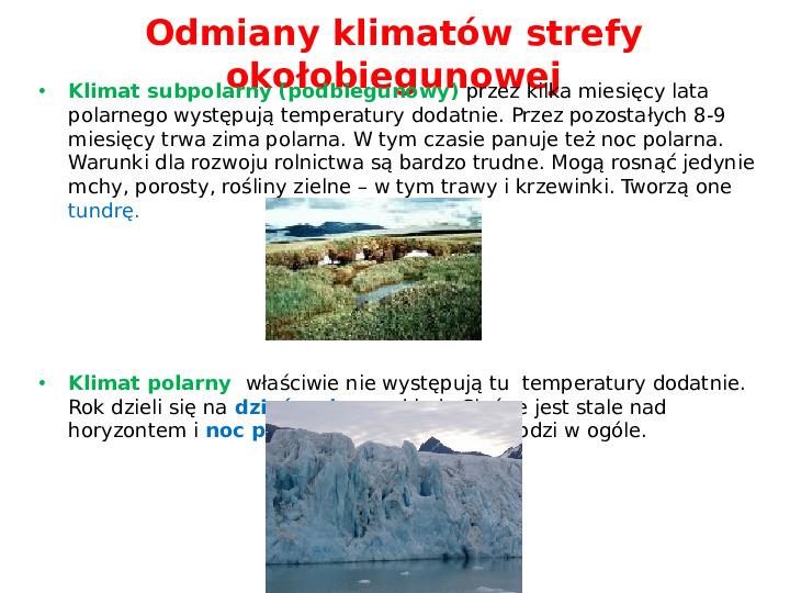 Pogoda i zróżnicowanie klimatyczne świata - Slajd 16