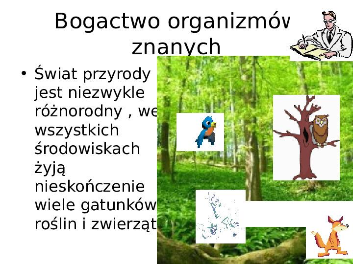 Porządkujemy świat organizmów - Slajd 1