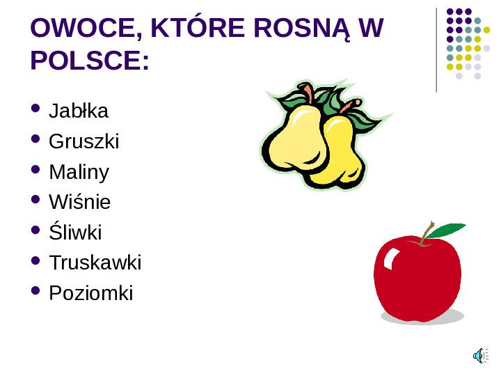 Poznajemy owoce - Slajd 1