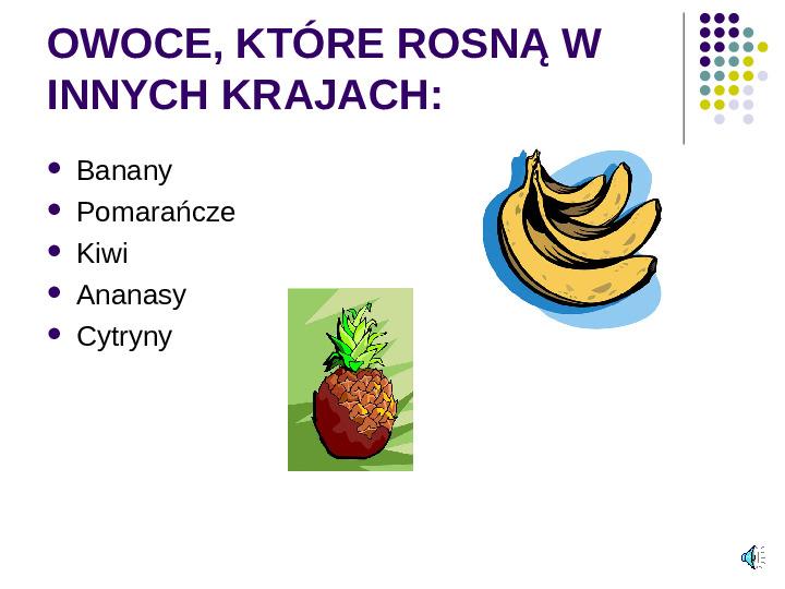 Poznajemy owoce - Slajd 2
