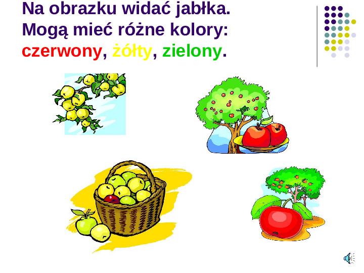 Poznajemy owoce - Slajd 3