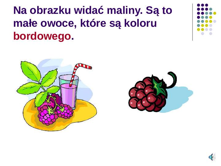 Poznajemy owoce - Slajd 7